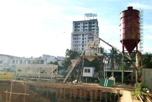 Concrete Mixing Plant installation process
