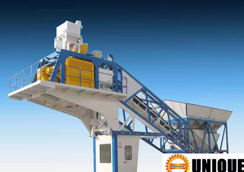 Cement Plant Structure : Mobile concrete plant station structure
